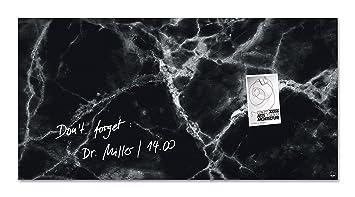 Sigel gl322 tableau magnétique en verre artverum 91 x 46 cm marbre