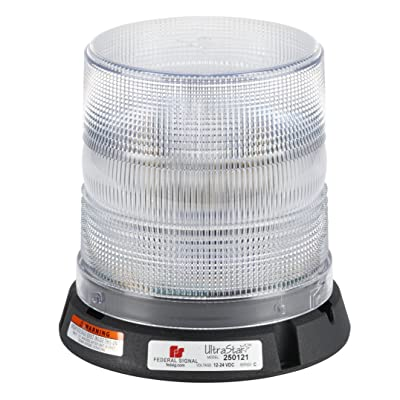 "Federal Signal 250121-05 UltraStar Clear 6.7"" Strobe Beacon (Perm Mt/1"" pipe mount): Automotive"