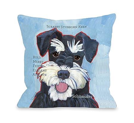 One Bella Casa Schnauzer 2 Pillow, 20 by 20-Inch
