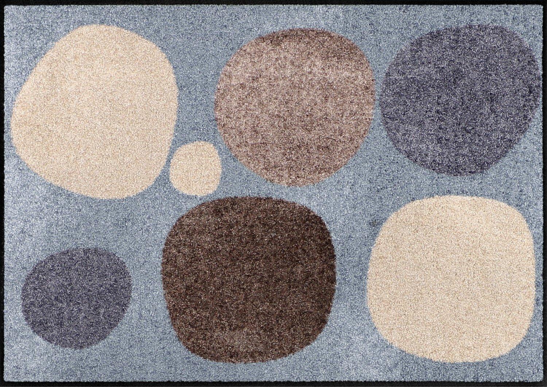 Salonloewe Broken Dots Nature Fußmatte 115 x 175 cm Schmutzfangmatte waschbar