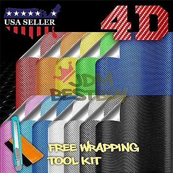 "*60/""x108/"" 4D Gloss White Carbon Fiber Vinyl Wrap Sticker Bubble Free Release"