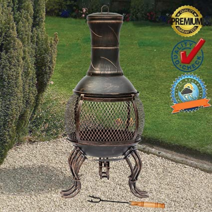 FunkyBuys Deluxe – Gran Altura de 89 cm (3ft) bronce Deluxe calentador de hierro