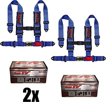 Blue Tanaka Buggy SeriesBuckle 3 Point Harness Set with dual buckle design