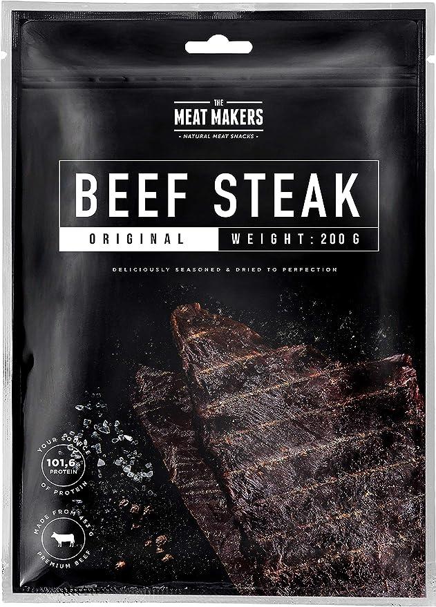 The Meat Makers | BIG PACK Original Dried Beef Jerky Steak (200g) – Carne Seca Cecina