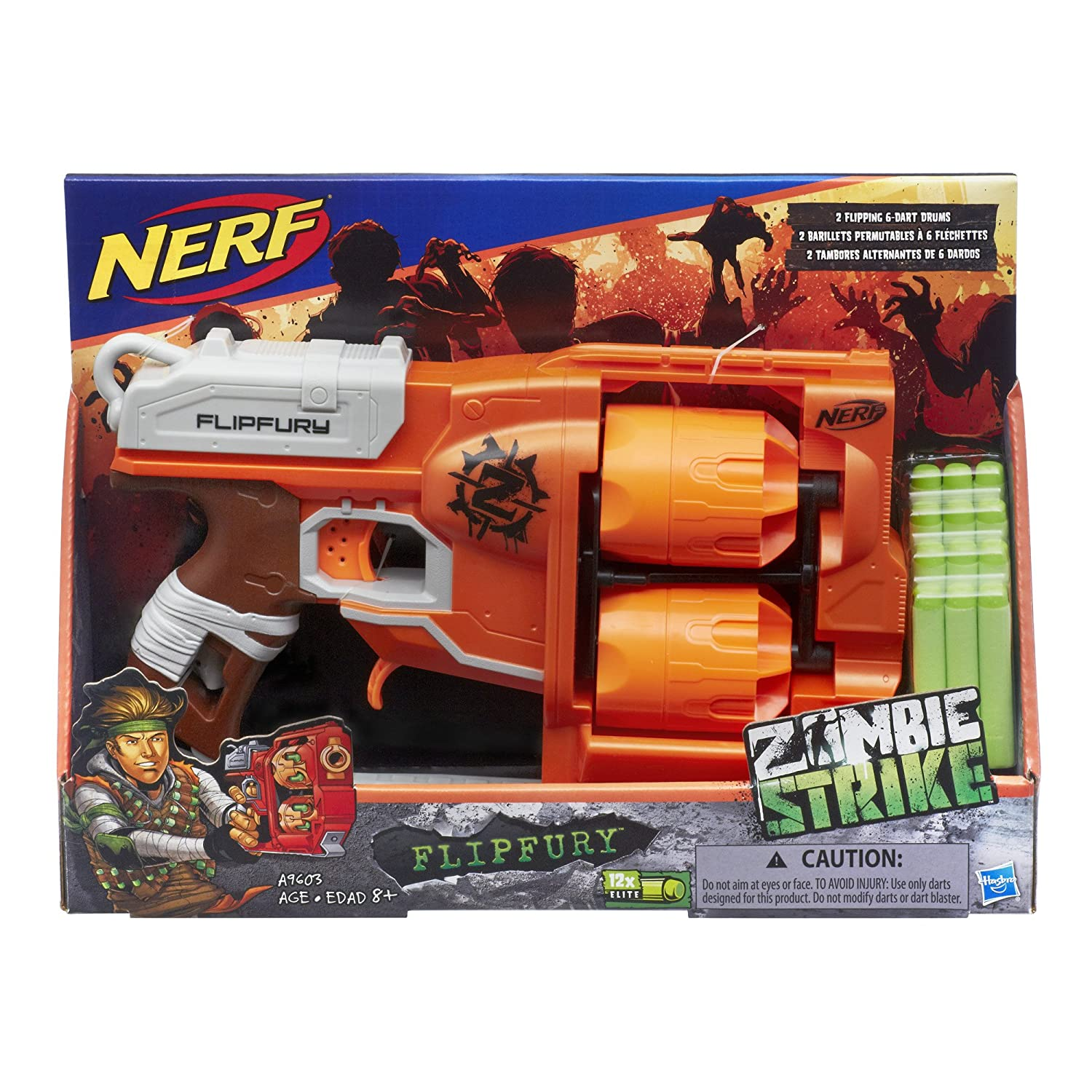 Buy Nerf Zombie Strike Flipfury Blaster Toy For Kids Multi Color line at Low Prices in India Amazon