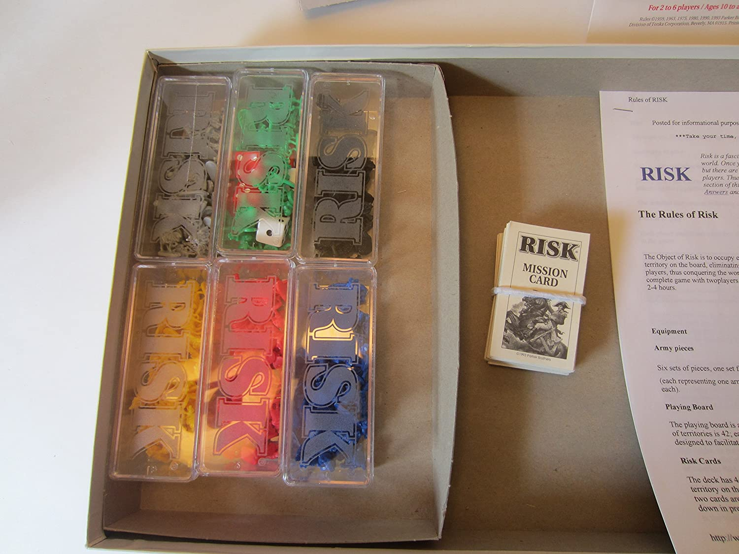 You Pick Armies Dice Cards Board Risk Board Game 1993 Replacement Parts Pieces