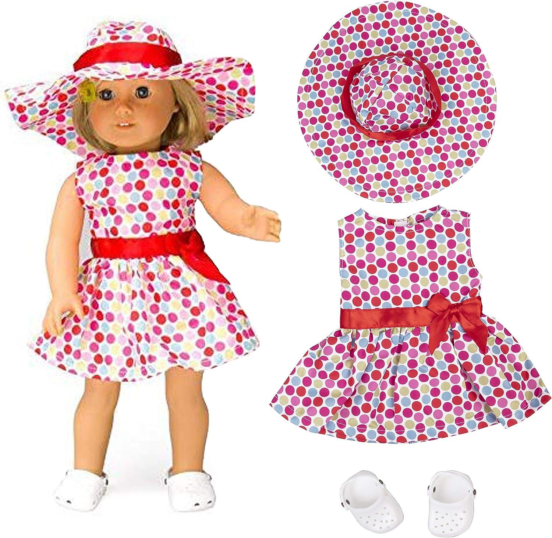 Polka Dot Raincoat 3pc Set Fits 18 inch American Girl Dolls