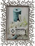 Concepts by Klikel 4x6 Silver Coral Cutout Metal Photo Picture Frame