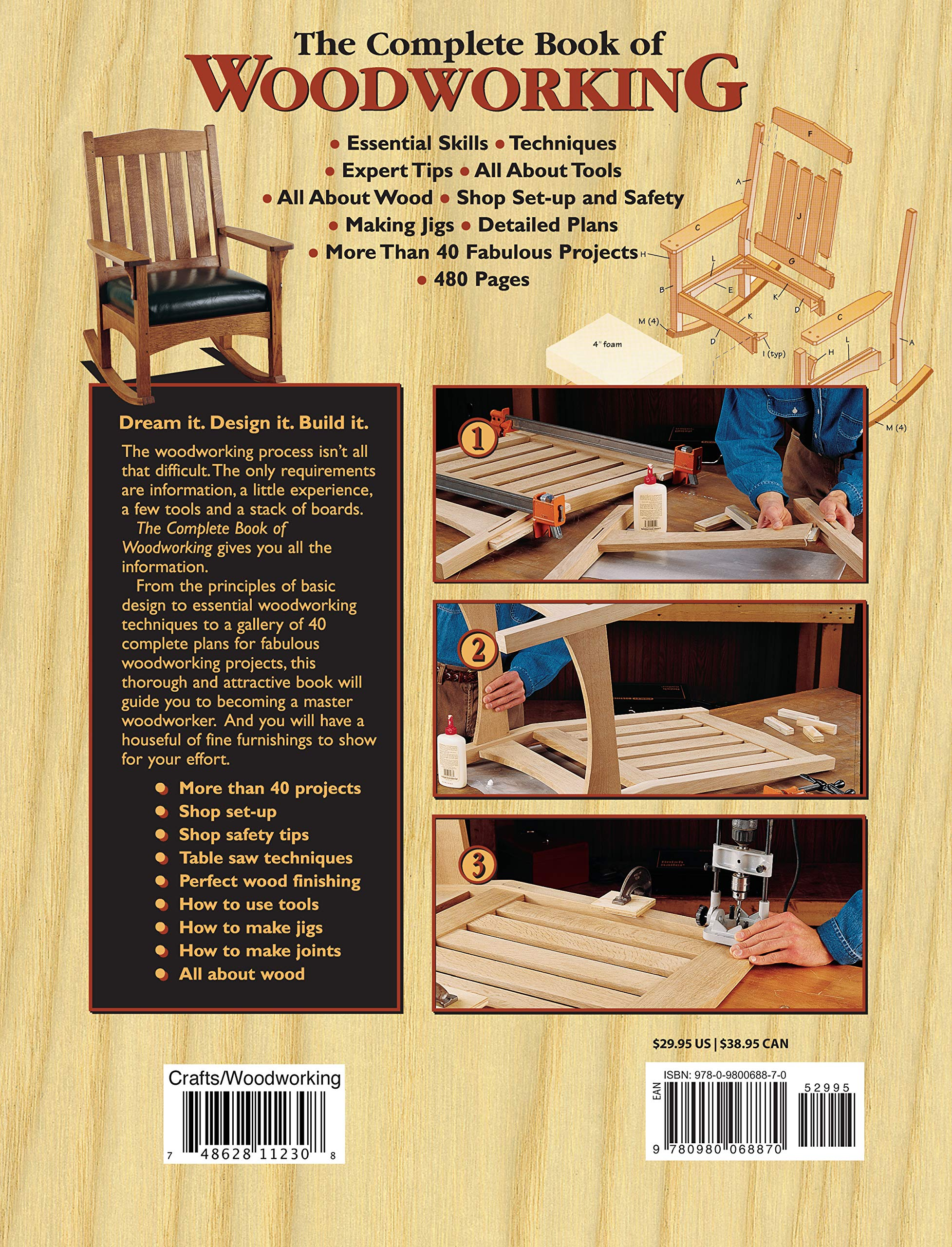 The Complete Book of Woodworking: Step-by-Step Guide to Essential Woodworking Skills, Techniques and Tips (Landauer) More Than 40 Projects with Detailed, Easy-to-Follow Plans and Over 200 Photos by Design Originals (Image #2)
