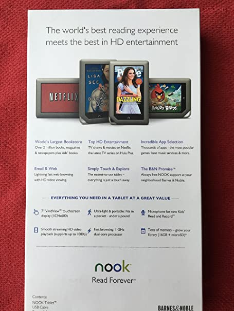 amazoncom barnes noble nook tablet 16gb color bntv250 tablet computers computers accessories