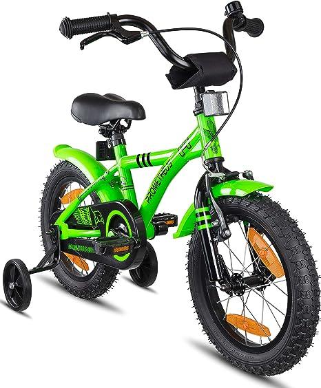 Prometheus Bicicleta Infantil | 14 Pulgadas | niño y niña | Verde ...