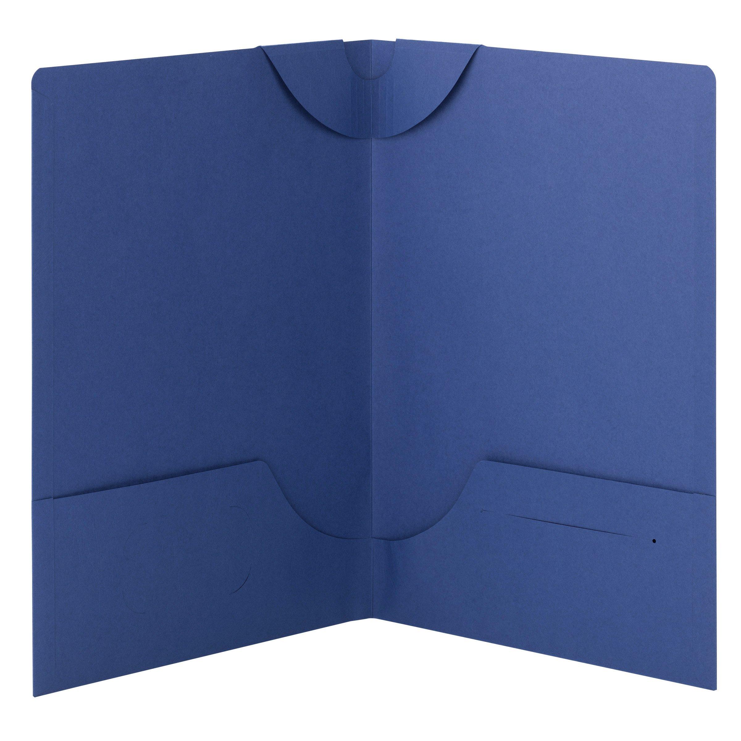 Smead Lockit Two-Pocket File Folder, Up to 50 Sheets, Legal Size, Blue, 25 per Box (87968)
