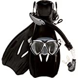 Sea Scout Adult Snorkeling Set - Dry-top Snorkel / Fins / Mask