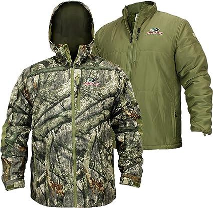 EHG Elite Men's Mossy Oak Sierra 3-N-1 Waterproof Insulated Camo Hunting Jacket
