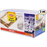 Matzo Osem Israeli Passover Matzah Five Individual One Pound Boxes (5 Pounds)