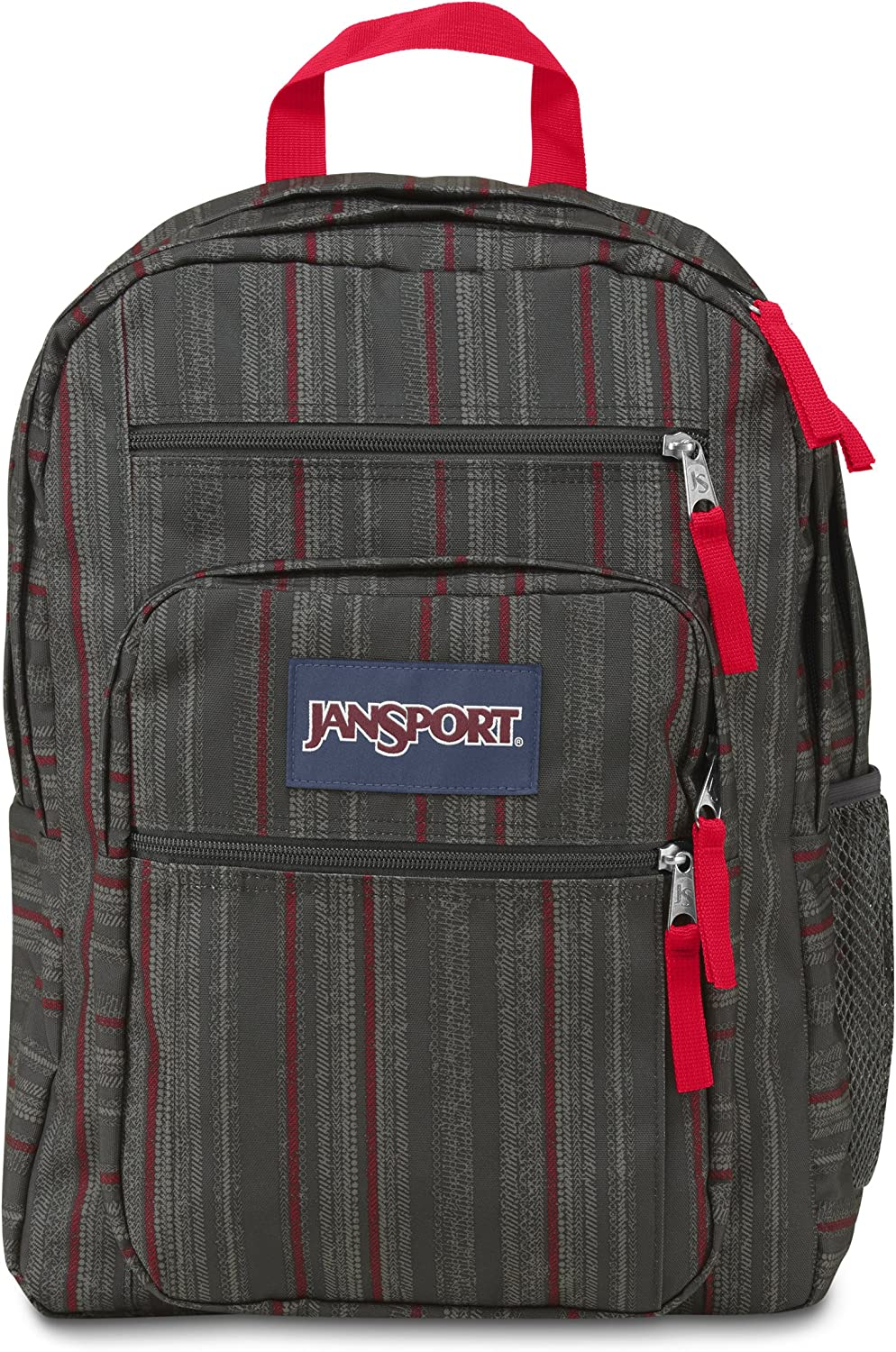JanSport Big Student Classics Series Backpack - RED TAPE GRUNGE STRIPE