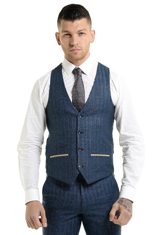 Marc Darcy Mens Designer Waistcoat Tweed Herringbone Inside Blazer Jacket  Tailored Fit Smart Formal Dinner Coat Various Styles  Amazon.co.uk  Clothing 70cddde5f