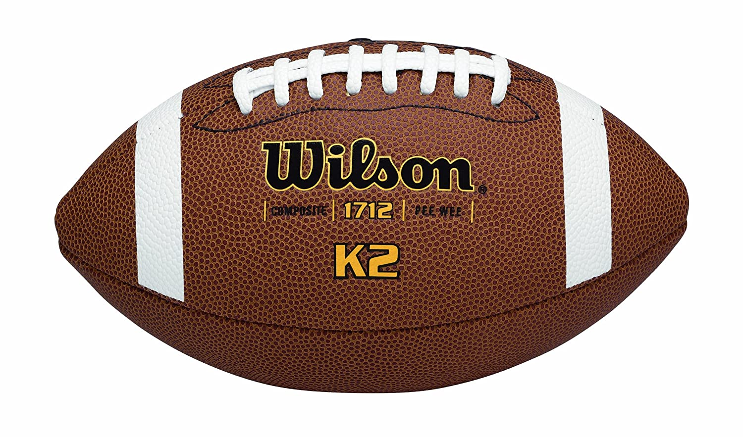 Wilson K-2 Pee Wee Composite Leather Game Football: Amazon.es ...