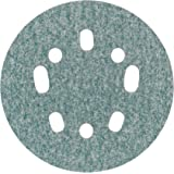 "Norton 3X 5 & 8 Hole Universal Vacuum Abrasive Fiber Disc, Fiber Backing, Hook & Loop, Aluminum Oxide, 5"" Diameter, Grit P60 (Pack of 10)"