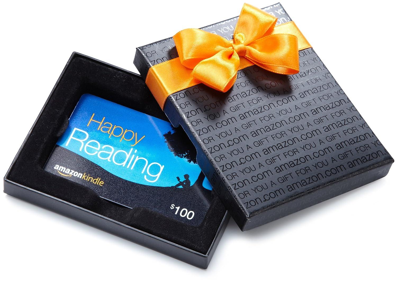 Amazon.com Gift Card in a Black Gift Kasten (Kindle Card Design)