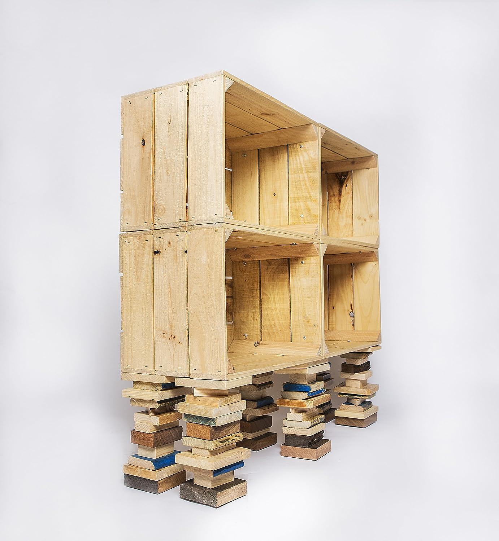 estanterías de cajas de madera estanterías de cajas de fruta estanterías de cajones estanterías modulares modernas estante diseño industrial: Amazon.es: ...