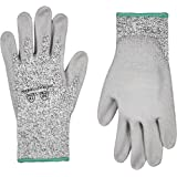 AmazonCommercial 13G HPPE & PU Coated Gloves (Salt & Pepper/Grey), Size M, 6 Pairs