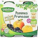 Blédina Compote Pomme Pruneau 4 x 130 g - Lot de 4