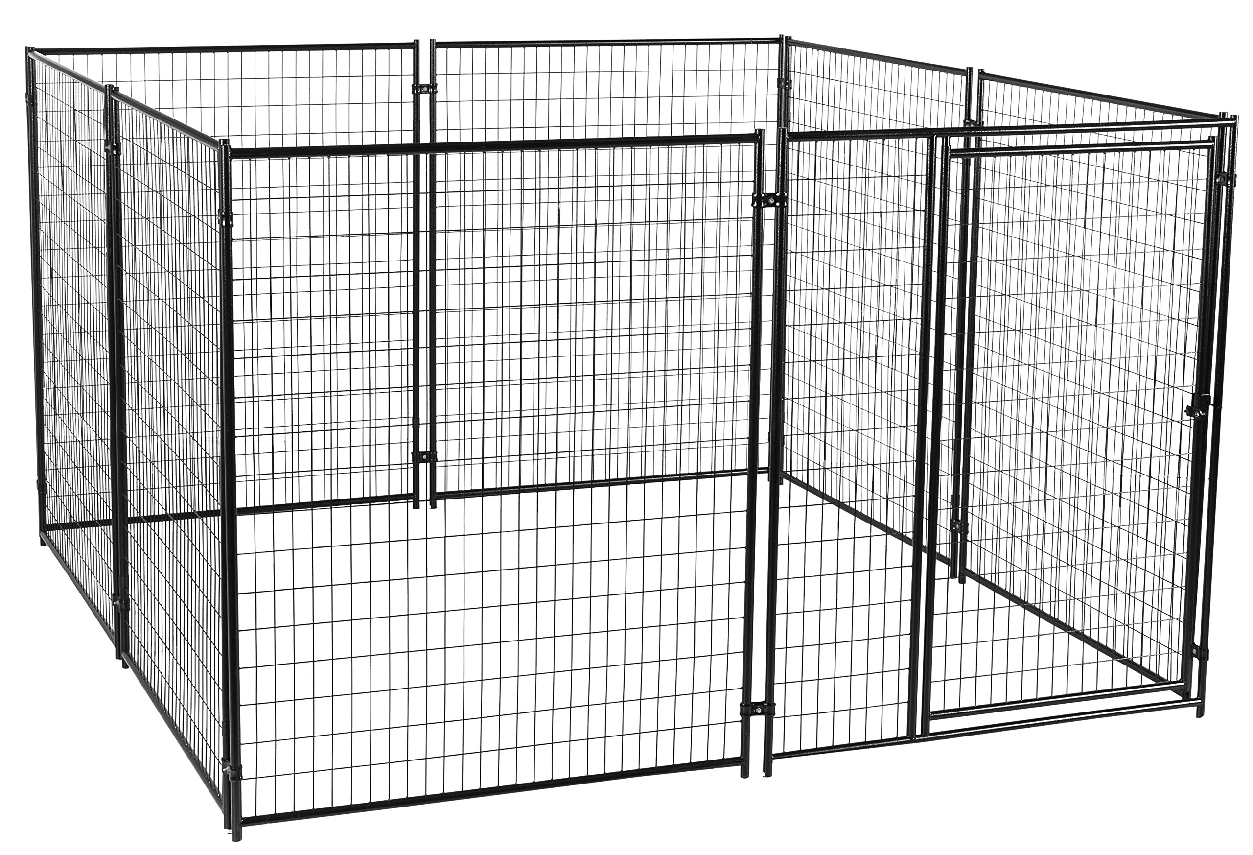 Dog Kennel - Lucky Dog Modular Box Kennel - This Welded Animal Enclosure is Perfect for Medium to Large Dogs and Animals and is Designed with Their Safety and Comfort In Mind. Dimensions (6'H x 10'L x 10'W); 200 lbs by Lucky Dog