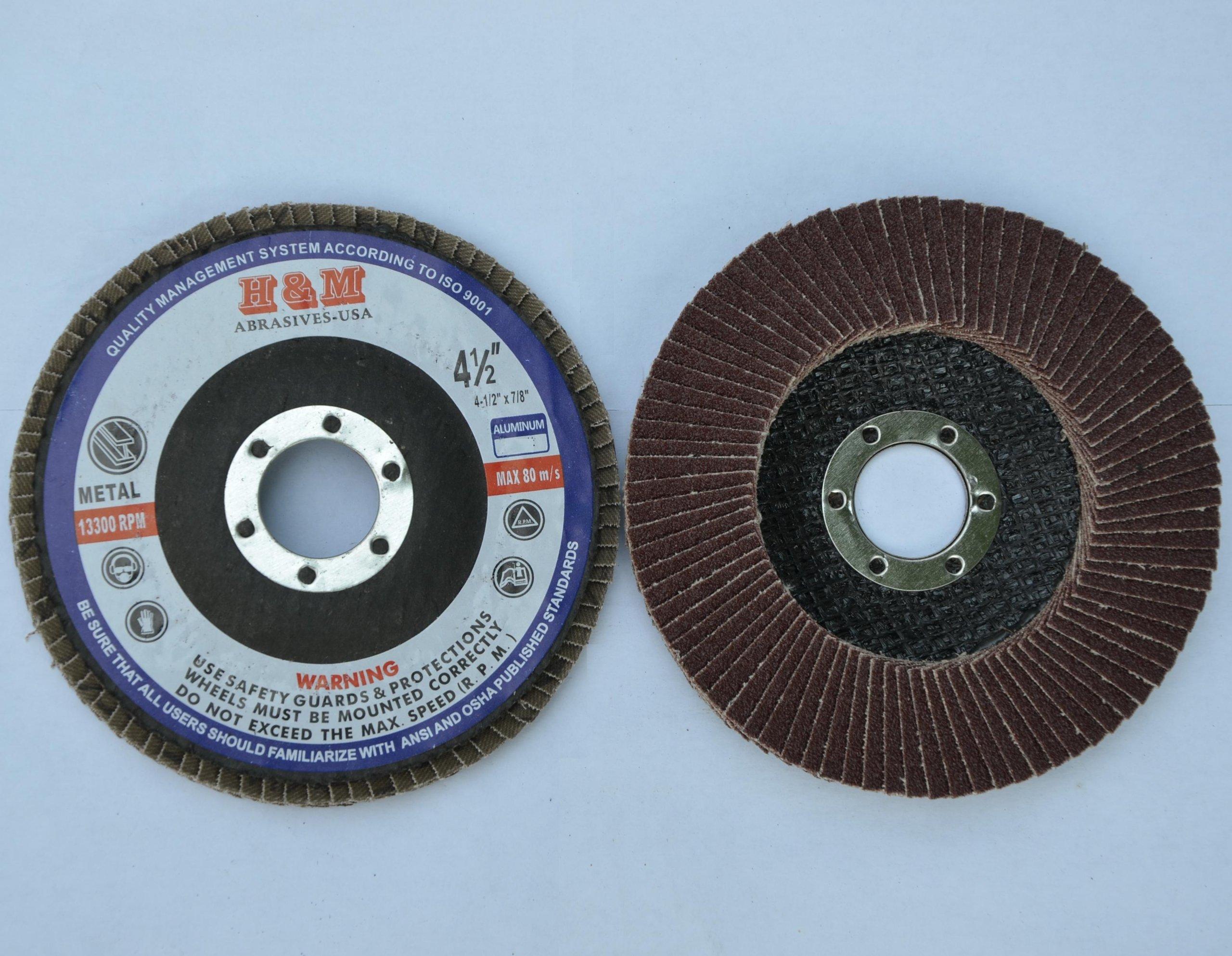 10pcs Premium FLAP DISCS 4-1/2'' x 7/8'' A/O 40 grit Sanding Wheel - Type 27