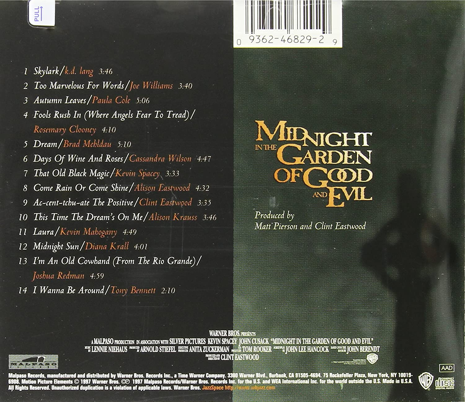 Midnight In The Garden Of Good And Evil: Soundtrack : Amazon.es: Música
