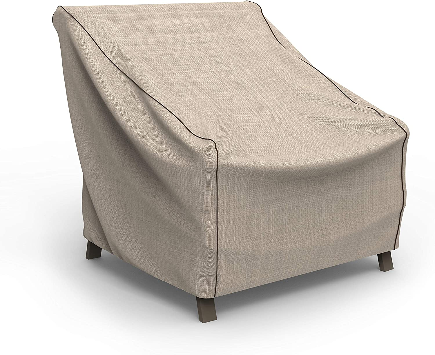 EmpirePatio Tan Tweed Patio Chair Cover, Large