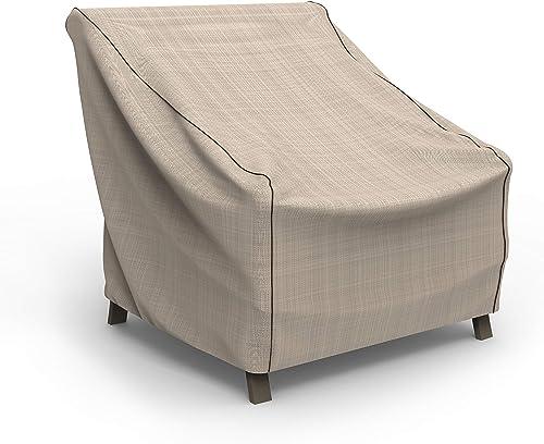 EmpirePatio Tan Tweed Patio Chair Cover, Large