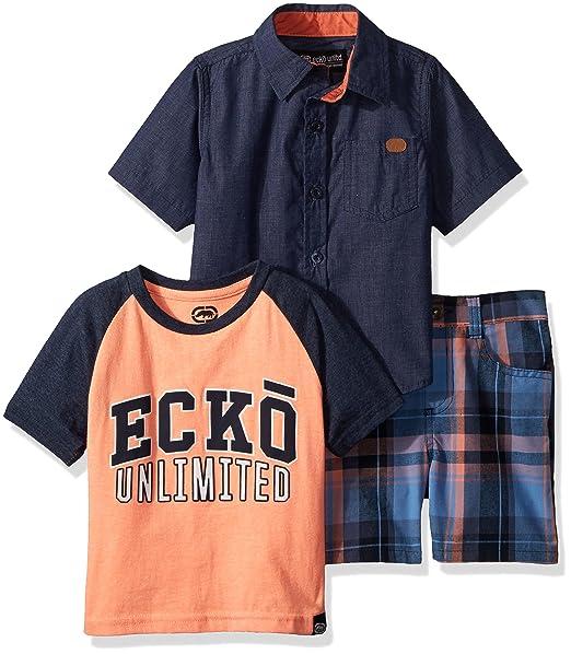 Ecko Unlts Toddler Boys White Tank Top /& Short Set Size 2T 3T 4T $40