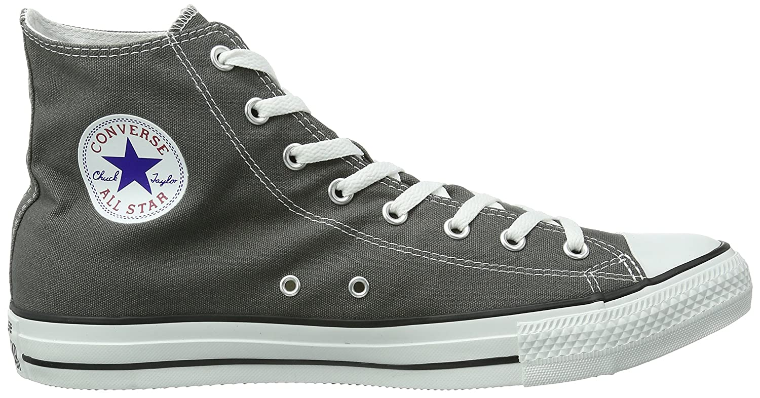 Converse Unisex Chuck Sneakers Taylor All-Star High-Top Casual Sneakers Chuck in Classic Style and Color and Durable Canvas Uppers B001EID3LK Men's 13 Medium|Charcoal 6b7ab2