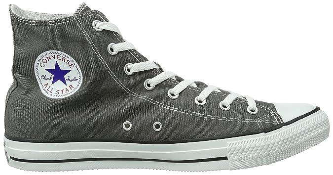 Amazon.com | Converse All Star Seasonal Hi Charcoal Unisex Basketball Shoes - Charcoal - 8.5 | Fashion Sneakers