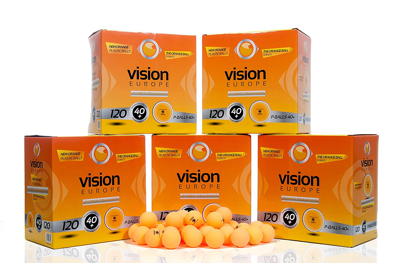 120 Pelotas De Ping Pong, 120 Pelotas de Tenis de Mesa, (Vision Super Training 40), Pelotas De Plástico, Nuevo Material Aprobado Por La Federación ...