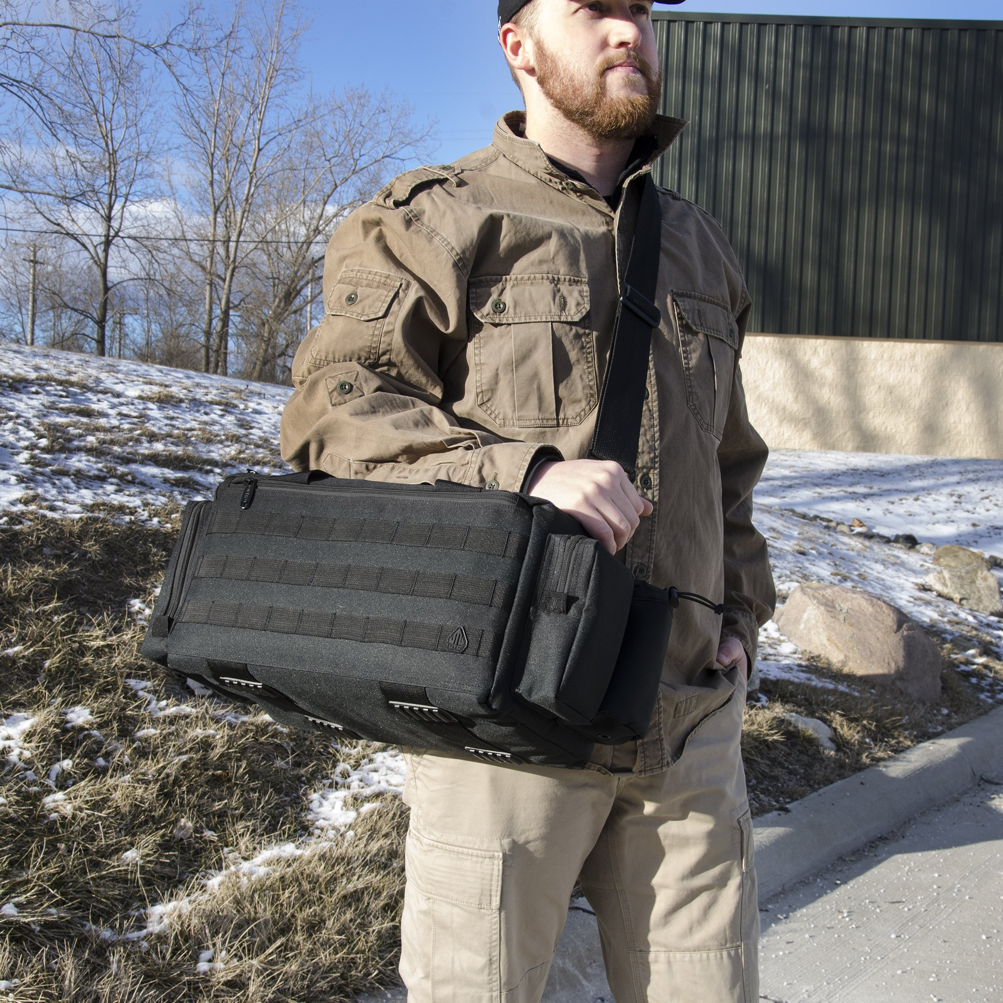 UTG All in One Range/Utility Go Bag, Black, 21'' x 10'' x 9'' by UTG (Image #3)