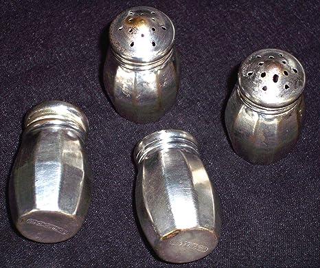 02 piezas ideal para sal y pimienta gruesa estilo country//western COM-FOUR/® 2x especiador hecho de vidrio salero y pimentero en estilo de casa de campo ingl/és antiguo