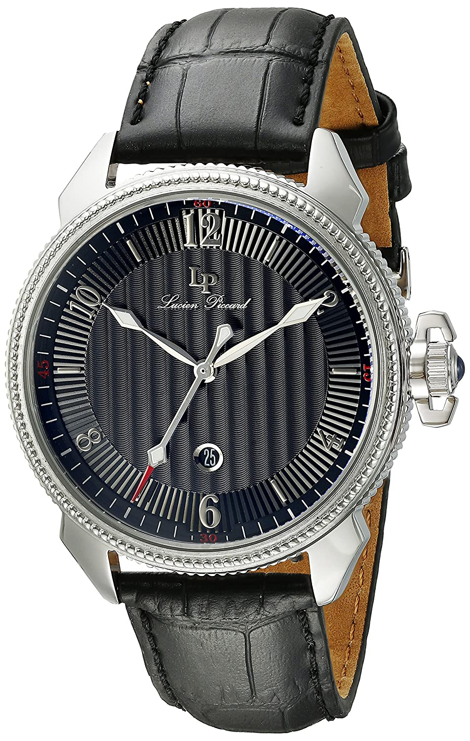 Amazon.com: Lucien Piccard Men's LP-40053-01 Trevi Stainless Steel Watch  with Leather Band: Watches