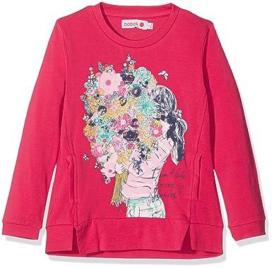 b5b60e7fd8e boboli Camiseta de Manga Larga para Niñas  Amazon.es  Ropa y accesorios