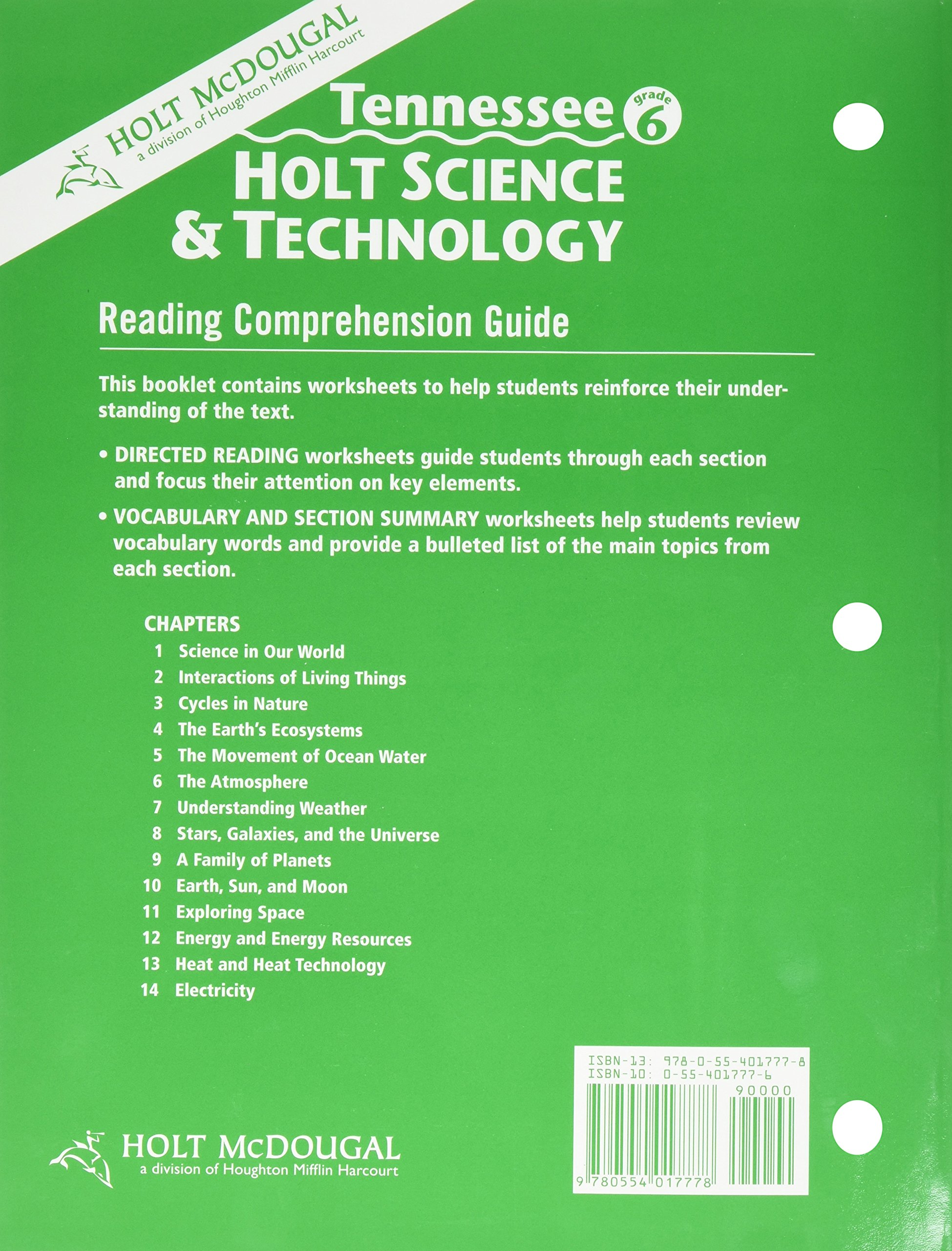 Buy Science And Technology Tennessee Reading Comprehension Guide