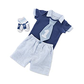 a3b17a4e5 Image Unavailable. Image not available for. Color: Baby Aspen My First  Birthday Outfit ...