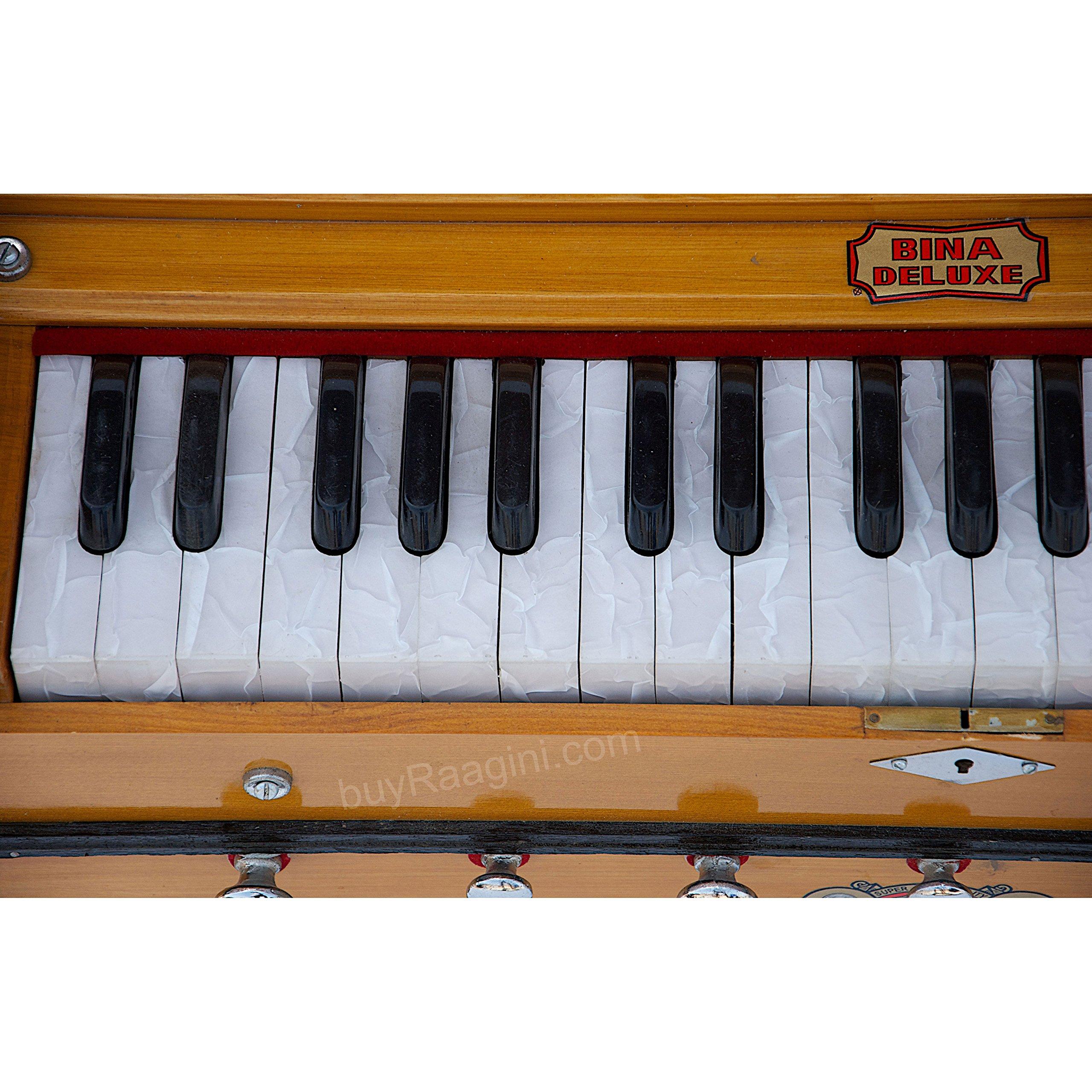 Harmonium Musical Instrument, BINA No. 8, 7 Stops, 3 1/4 Octaves, Coupler, Tuned To A400, Double Reed, Natural Color, Book, Nylon Bag (PDI-DJF) by Bina (Image #6)