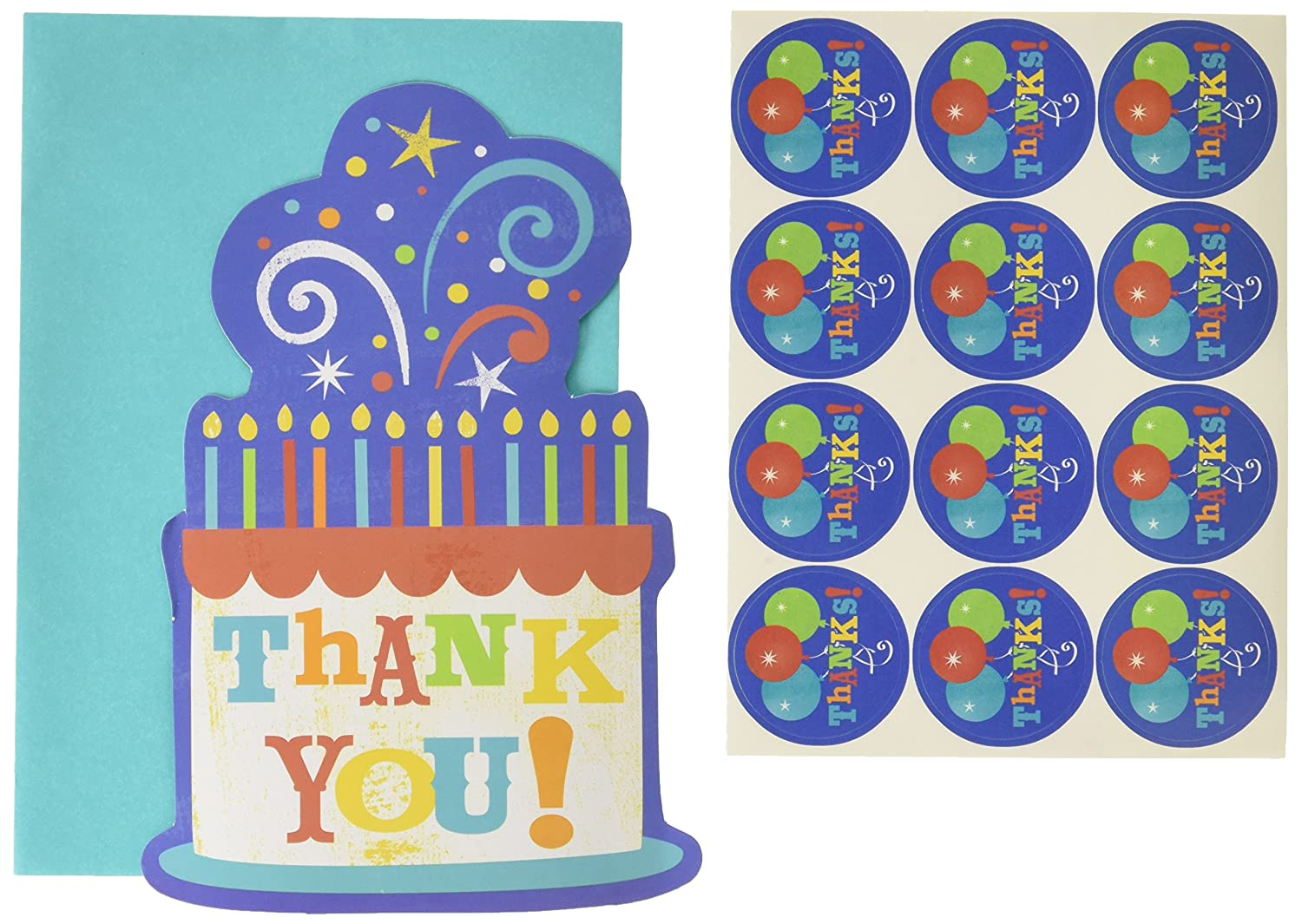 Thank You Cards | Multi color Collection | Birthday | 120 Sets
