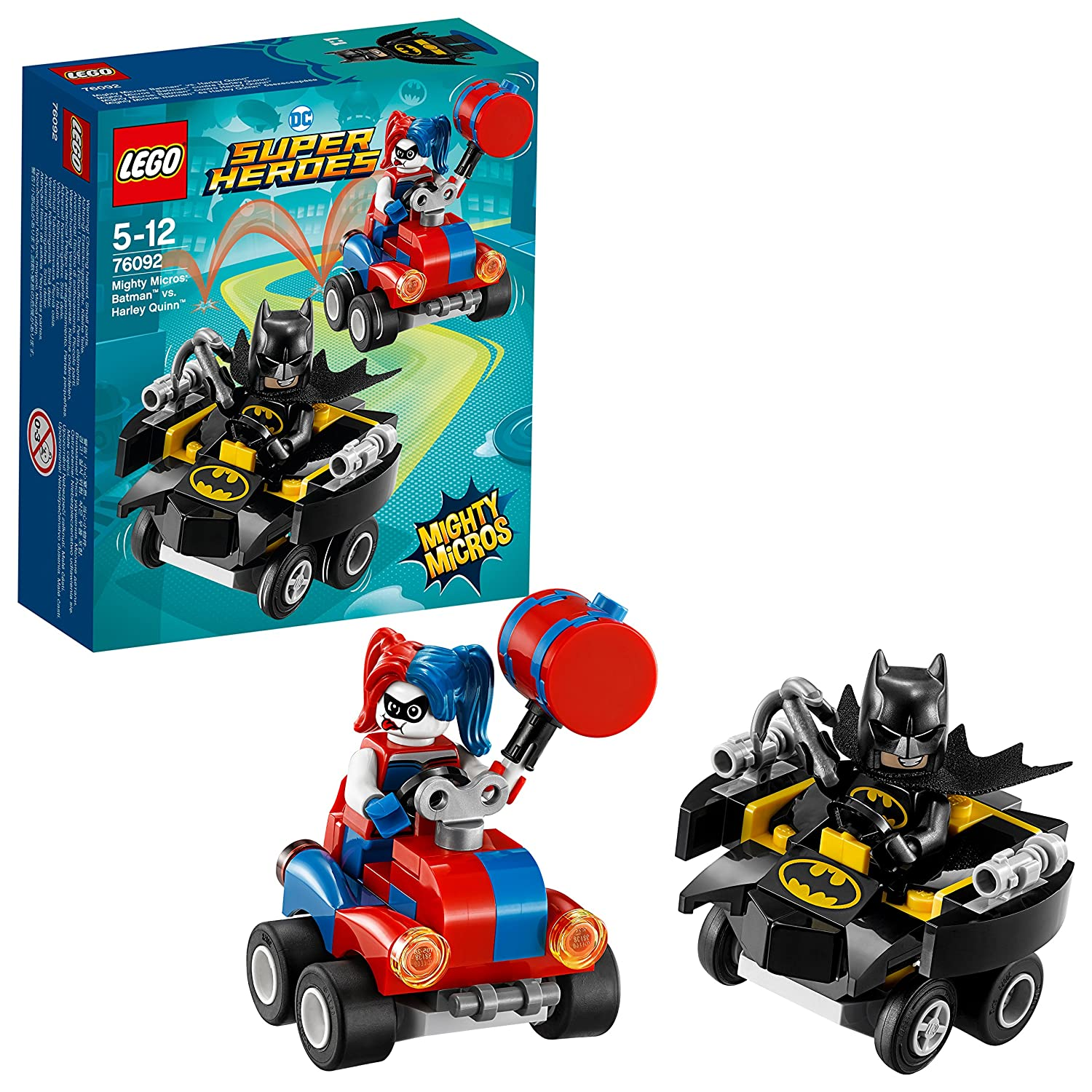 LEGO DC Comics Super Heroes - Mighty Micros : Batman contre Harley Quinn - 76092 - Jeu de Construction