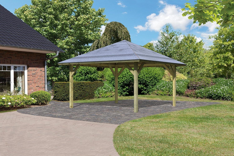 karibu pavillon carport kirn 1 kdi g nstig online kaufen. Black Bedroom Furniture Sets. Home Design Ideas