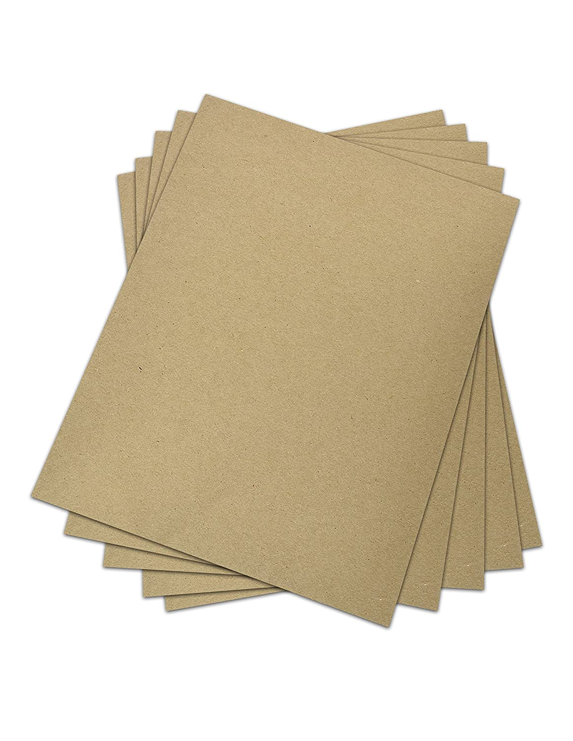 Chipboard - Cardboard Medium Weight Chipboard Sheets - 25 Per Pack. (5 x 7) Superfine Printing Inc.
