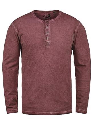 b7b2c2e88 Solid Timur Men's Long Sleeve T-Shirt Top with Grandad Collar Made ...