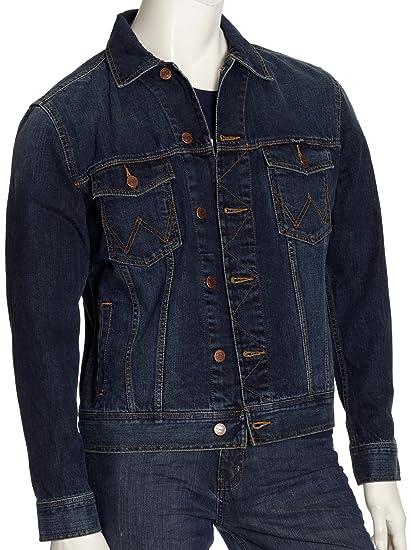 71ba7bdd Wrangler Men's Western Denim Jacket Dark Stone Jeans: Amazon.co.uk: Clothing