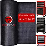 ONREVA Toolbox Drawer Liners, Professional Grade Tool Box Liner 18 inch wide x 24 ft, Rolling Tool Chest Liner Mat Roll…